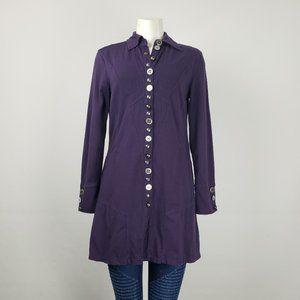 Neon Buddha Purple Cotton Jacket Size S